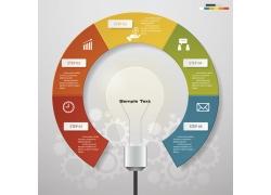 创意圆环灯炮信息图表