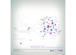 彩色球形分子信息图表