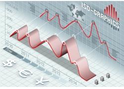 金融符号曲线信息图表