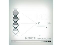 科技曲线分子信息图表