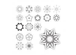 星星花纹装饰图案