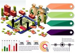 金融商务信息图表设计