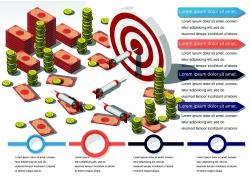 商务金融美元信息图表