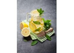 柠檬薄荷水高清图片