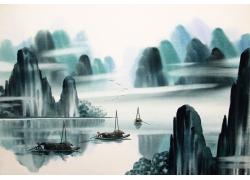 日本水墨国画