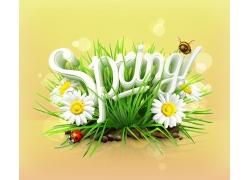 Spring春天立体字