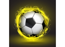 黄色烟雾足球