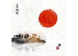 水墨日本国画
