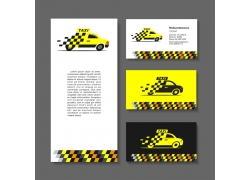 黄色出租车素材