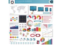 彩色笔记本表柱信息图表