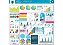 彩色商务元素信息图表