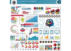 彩色立体商务元素信息图表