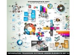 彩色立体商务环境信息图表