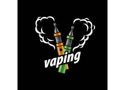 创意心形烟雾电子烟标志