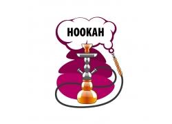 紫色烟雾水烟标志
