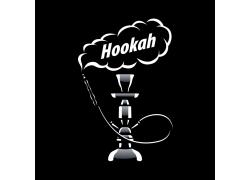 黑白烟雾水烟标志