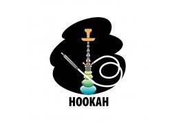黑色烟雾绿色水烟标志