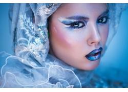 美丽彩妆模特女人