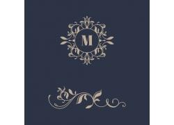 M字母logo花纹设计模版