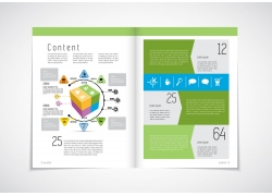 立体图表画册设计