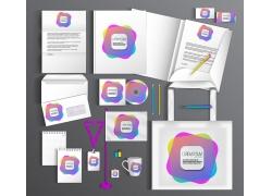 彩色方块vi设计