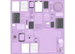浅紫色vi设计