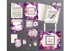 紫色图案vi设计
