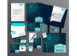 蓝色网格线vi设计