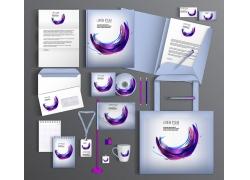 紫色圆弧vi设计