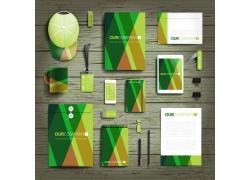 绿色条纹vi设计
