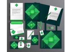 绿色四边形vi设计