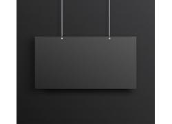 长形黑色海报