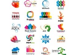 漩渦圓環箭頭logo設計