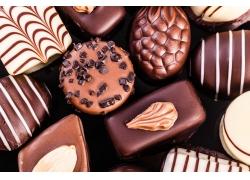 巧克力糖果背景