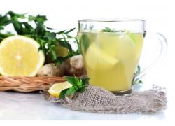 柠檬汁摄影图