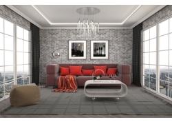 客厅装修3D效果图