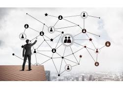 科技互聯網圖標商務男人