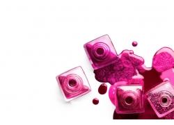 粉色指甲油背景