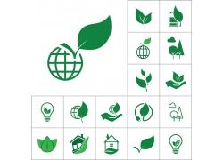 生态环保按钮图标