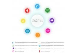 彩色圆环圆形图表
