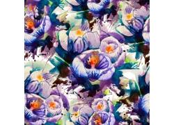 彩色卡通花朵背景