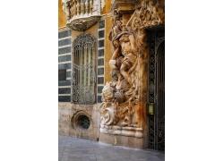 雕花人物建筑