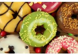 甜甜圈糖果背景