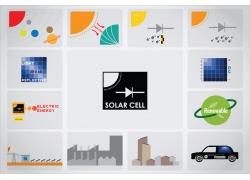 卡通生态环保能源图标