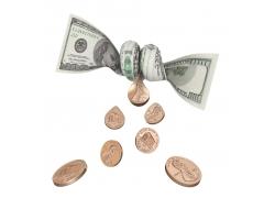 扭曲美元和金币
