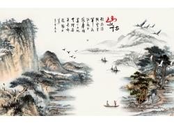中国画背景墙