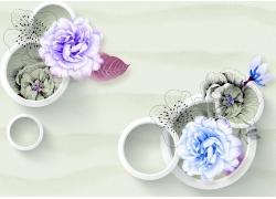 牡丹花立體圓環