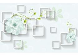 玉雕花朵立體方框