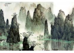 桂林山水中国画