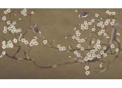中国花鸟画背景墙